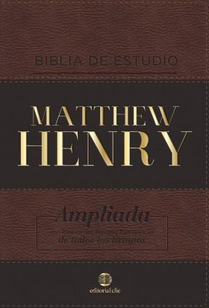Biblia de estudio Matthew Henry. 2 tonos. Marrón - RVR77