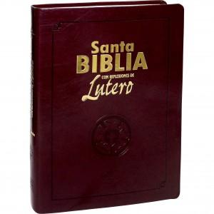 Biblia con reflexiones de Lutero. Imitación piel. Marrón - RVR60