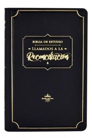 Biblia de estudio Llamados a la Reconciliación. Piel especial. Negro. Índice - RVR60