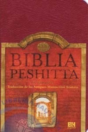 Biblia Peshitta. Imitación piel. Rojizo. Índice - Trad. Arameo