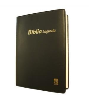 Biblia en portugués DN42. Plástico. Negro - ALM