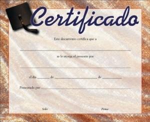 Certificado - Graduación (pack de 20)