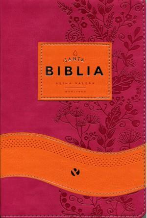 Biblia RVR065c. 2 tonos. Naranja/fucsia. Índice - RVR60