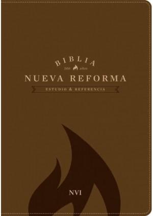 Biblia de estudio Nueva Reforma. 2 tonos. Marrón - NVI