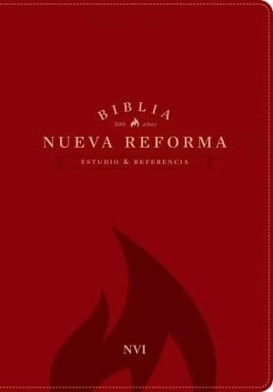 Biblia de estudio Nueva Reforma. 2 tonos. Rojo - NVI