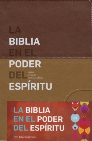 Biblia en el Poder del Espíritu Santo. 2 tonos. Marrón - NVI